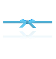 Blue dotted bow and blue dotted ribbon vector