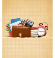 Back to school retro education background with vector