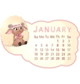 Beautiful calendar vector