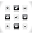Crown buttons vector