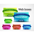 Web boxes vector