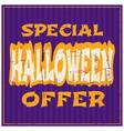 Typographic design halloween sale poster vector