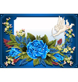 Roses ornament on vintage frame vector