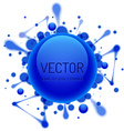 Round glossy bubble with inkblots vector