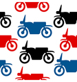 Motorcycle seamless pattern vector