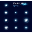 Star flares vector