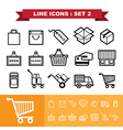 Line icons set 2 vector