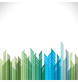 Abstract green and blue cityscape stock vector
