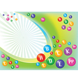 Vitamins background vector