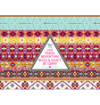 Hipster seamless aztec pattern with bird vector