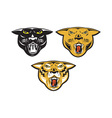 Panther big cat growl head isolated vector