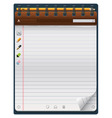 notepad template vector