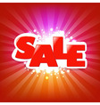 Bright sale poster with blur vector