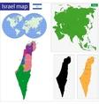 Israel map vector