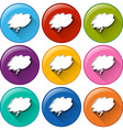 Icons with empty cloud templates vector