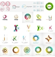 Logo collection geometric business icon set vector