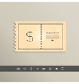 Simple style pixel icon dollar sign design vector