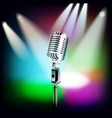 Abstract music background with retro microphone vector