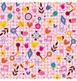 Fun cartoon nature seamless pattern vector