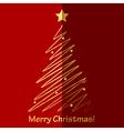 Merry christmas card with fir tree vector
