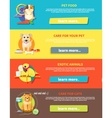 Hamster parrot cat and dog vector