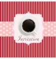 Coffee invitation background vector