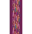 Colorful birthday candles vertical seamless vector