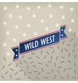 Wild west poster with bullets and stars vector