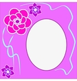 Floral round frame with place for text vector