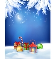 Christmas winter night background vector