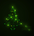 Abstract christmas tree made from light lines and vector