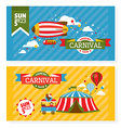 Country fair vintage invitation cards vector