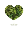 Evergreen christmas tree heart silhouette pattern vector
