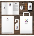Identity template with cmyk logo design vector