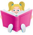 Reading girl vector