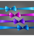 Set of color bow vector