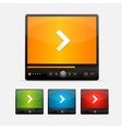 Video player skin colour set vector
