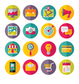 Icons set in flat design style - 01 vector