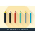 Set of pencil icon in a flat style with shadow vector