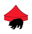 Grizzly bear in circus vector