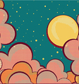 Cartoons sky background with grunge elements vector