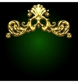 Golden decor vector