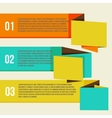 Flat modern curve colorful design template vector