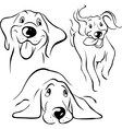 Dog - black line vector