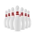 Shiny bowling skittles vector