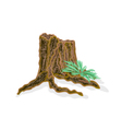Stump with ferns vector