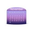 Calendar november 2015 vector