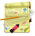 notepad xxl icon vector