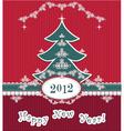Retro happy new year vector