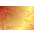 Bright golden background with map vector